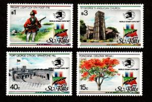 St. Kitts 273-276 Mint NH MNH World Stamp Expo 89!