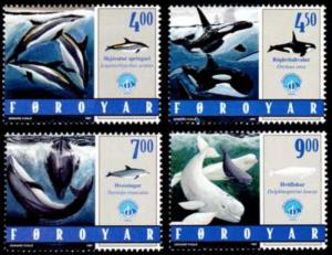 STAMP STATION PERTH Faroe Islands #339-342 Fa334-337 MNH CV$6.10