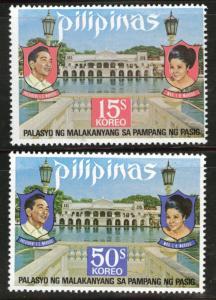 Philippines Scott 1217-8 MNH**1972 Palace set