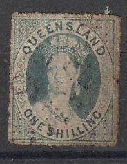 6F Queensland Used Wmk 5 clean cut perf 14 to 16 #191216-20