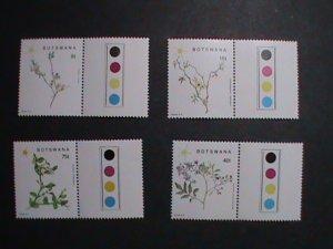 BOTSWANA STAMP 1988 SC#448-51  FLOWERING PLANTS OF SOUTHEASTERN -MNH STAMP SET.