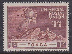 Tonga #90 single F-VF Mint Hinged * UPU 1949