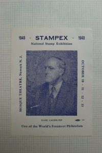 1940 Stampex  Natl Stamp Expo Newark NJ Event Souvenir Ad