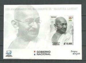 Paraguay 2019 150th Anniversary Mahatma Gandhi´s birthdate S/S MNH