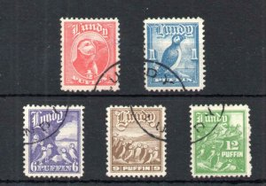 LUNDY: 1929 & 1930 DEFINITIVES USED