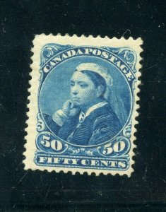 CANADA 1893 QUEEN VICTORIA 50c SCOTT#47 VF MINTHINGED  WITH REMNANT FRESH COLORS