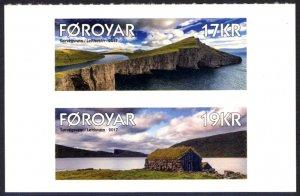 Faroe Islands 2017 Scott #674A-674B Mint Never Hinged