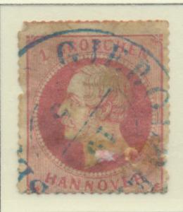 Hanover (German State) Stamp Scott #27, Used, Faults, Hinge Remnant - Free U....