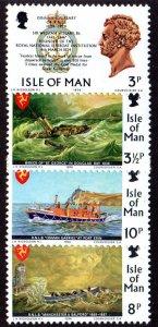 Isle Of Man MNH 36-9 Maritime Lifeboats 1974