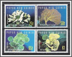 Papua New Guinea MNH 924-7 Year Of The Pacific Coral Reef 1997