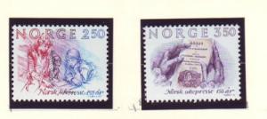 Norway Sc 848-9 1984 150th Anniv Weekly Press stamp set mint NH