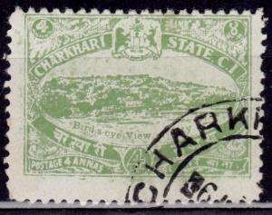 India Charkhari, 1931, View of City, 4a, sc#31, used