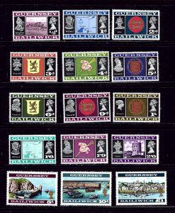 Guernsey 8-23 MNH 1969-70 set  one value not on scan set is complete