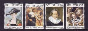 St. Lucia-Sc#434-7-Unused NH set-Rubens Paintings-1977-