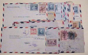 EL SALVADOR 40 SMALL COVERS 1940's MOSTLY TO USA