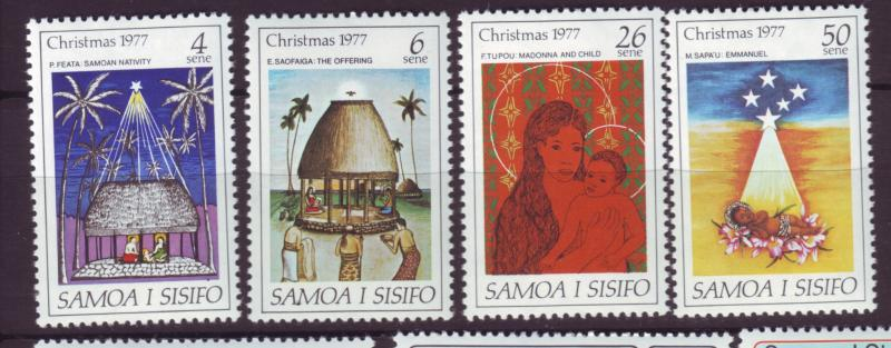 J19652 Jlstamps 1977 samoa set mnh #462-5 christmas
