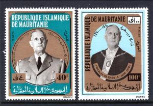 Mauritania 289-290 Charles de Gualle MNH VF