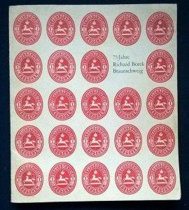 75 JAHRE Die Geschichte des Hauses RICHARD BOREK BRAUNSCHWEIG philatelic trade