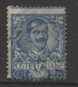 Italy - Scott 81 - Victor Emanuel III -1901 - Used - 25c - Ultra Stamp