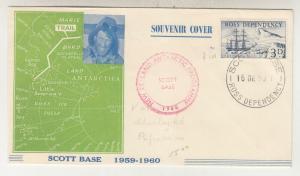 ROSS DEPENDENCY, 1959-1960 SCOTT BASE, Illustrated cover 3d.