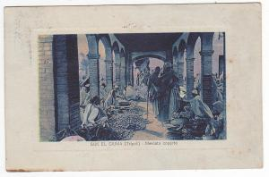 CA 1920 ITALY COLONIES LIBIA POSTCARD USED ETHNIC MARKET