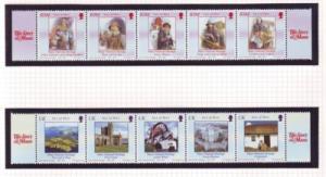 Isle of Man Sc 1050-1 Manx History stamp set mint NH