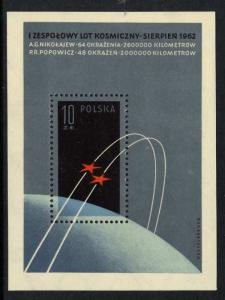 Poland 1093 MNH Space, Vostok III, Vostok IV
