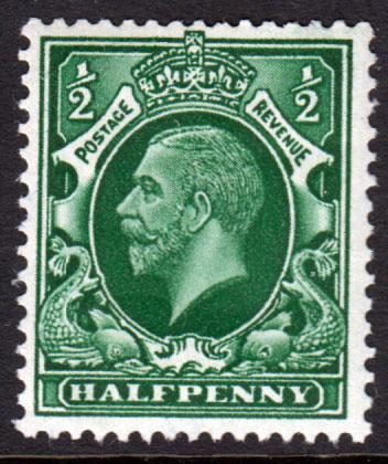 GB KGV 1934 0.5d Green SG437Wi Inverted Watermark Mint Hinged