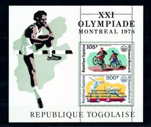 [55961] Togo 1976 Olympic games Motor cross Fencing with overprint MNH Sheet
