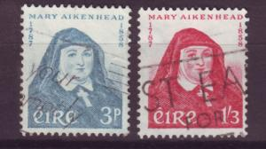 J16349 JLstamps 1958 ireland used #167-8 mother mary aikenhead