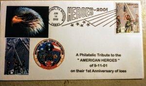 US FDC 2001 Heroes