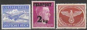 Stamp Selection Germany Feldpost WWII Fascism Adolf Emblem Field Post MNG