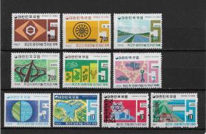 Korea Scott # 569-578 set,VF mint lightly hinged nice color scv $47,see pic !