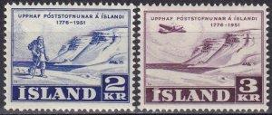 Iceland #271-2 MNH  CV $7.25 (SU8003)