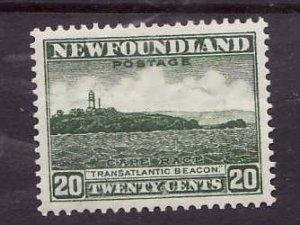 Newfoundland-Sc #196-unused,og, light hinge-20c Cape Race-id5-1932-7-