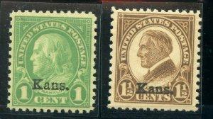 US SCOTT #658,659,663,665,667, Mint-VF-OG 5 cent LH, Rest are NH (DFP)
