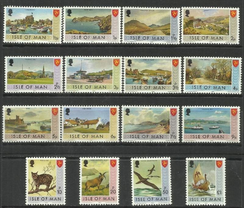 ISLE OF MAN - ISOLA 1973 LANDSCAPES VIEWS FAUNA VEDUTE PANORAMI Bailiwick Iss...