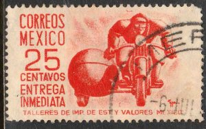 MEXICO E12, 25cts Motorcycle, Special Delivery. Used. VF. (951)