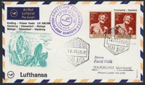 SPAIN 1968 Lufthansa first flight cover to Germany.........................H268