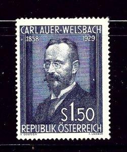 Austria 595 MNH 1954 Carl Auer-Welsbach  #1
