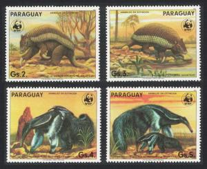 Paraguay WWF Anteater Armadillo Wild Animals Ant-eating Giants 4v Original issue