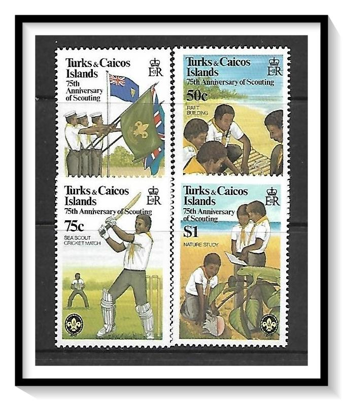 Turks & Caicos #512-515 Scouting Year MNH