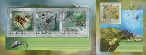 Guinea 2014 spiders insects klb+s/s MNH