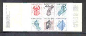 Sweden Sc 1501a 1984 Swedish Inventions stamp booklet mint NH