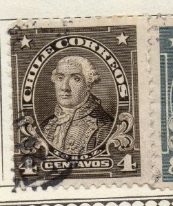 Chile 1911 Early Issue Fine Used 4c. NW-11449