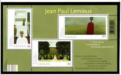 Canada Sc 2068 2004 Lemieux Paintings stamp sheet mint NH