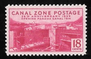 CANAL ZONE 132 18 cents 25th Anniversary Stamp Mint OG NH EGRADED XF 91 XXF