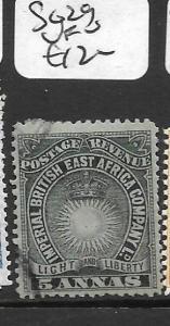 BRITISH EAST AFRICA (P1009B) SUN  5A SG 29  VFU