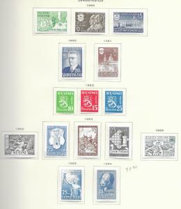 Finland 1941-1956 issued on pages used & MH, see desc. 2018 CV $222.70