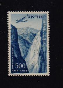 Israel 1953  Used air without tab 500 Pr.   #